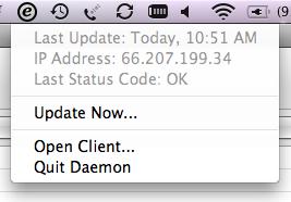 easyddns: A Mac OSX Dynamic DNS Client