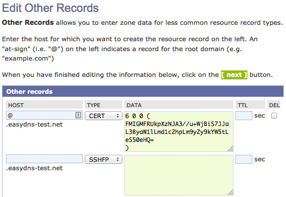 Other Resource Records