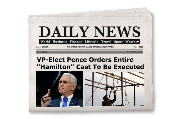 VP-Elect Pence issuing execution proclamation.